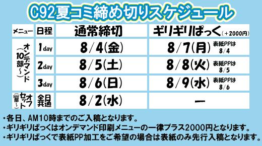 夏コミキャンペーン(C92)