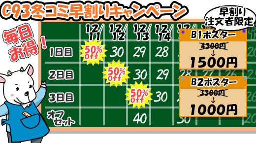 冬コミキャンペーン(C93)