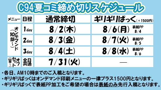 夏コミキャンペーン(C94)